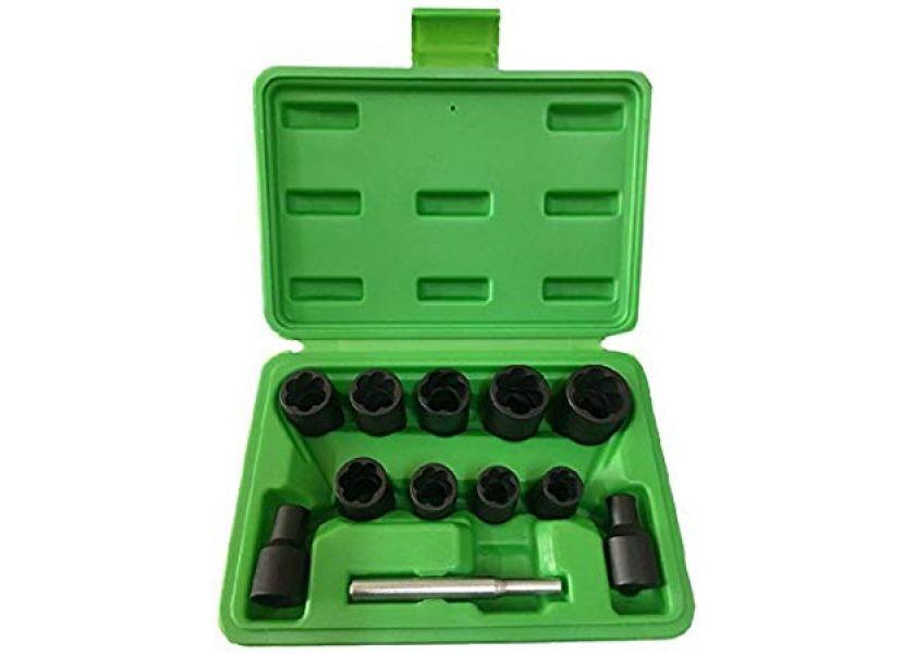 Nasadni ključevi 3/8' za odvijanje sigurnosnih šrafova točka, sa spiralom 6-19 mm